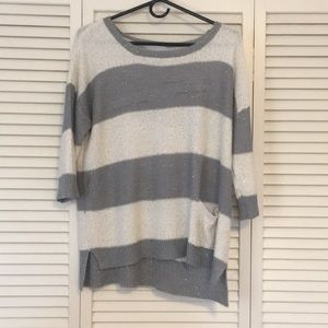 Striped sparkly sweater